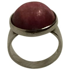 Niels Erik From Sterling Silver Ring with Rose Agate