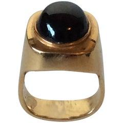 Georg Jensen 18 Karat Gold Ring with Cabochon Star Sapphire