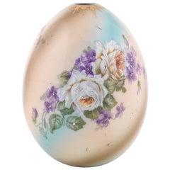 Russian Flower Porcelain Easter Egg