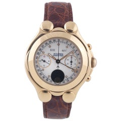 Bulova Yellow Gold Accutron Marco Polo Moon Phase Manual Wristwatch