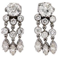 Diamond Night and Day Earrings, circa 1935