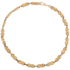 "Late 18th Century Gold Venetian ""Tattle"" Necklace"