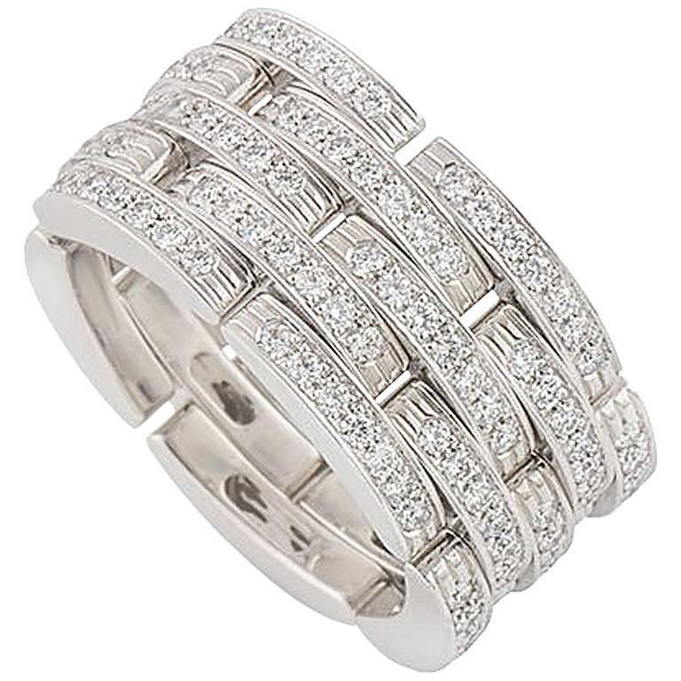Cartier Diamond Panthere Maillon Ring