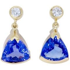 Diamond and Tanzanite Earrings