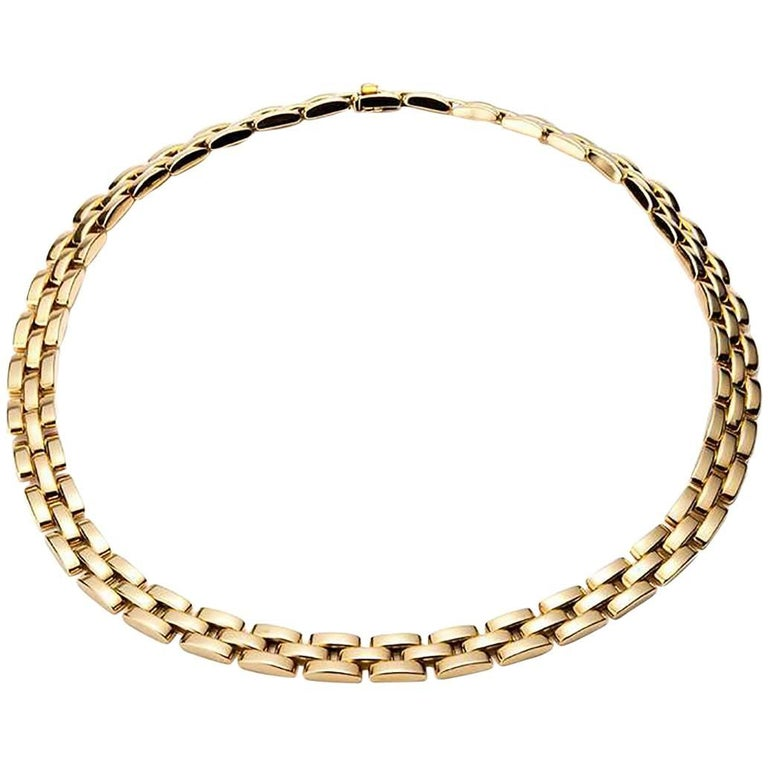 Cartier Yellow Gold Panthere Maillon Necklace