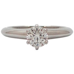 0.57 Carat Tiffany & Co. Solitaire Diamond Engagement Ring