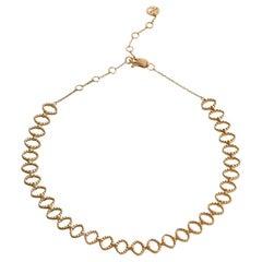 18 Karat Yellow Gold Tenura Choker Necklace