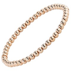18 Karat Rose Gold Bead Bracelet