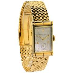 Vacheron Constantin Yellow Gold Art Deco Manual Wind Wristwatch, circa 1940