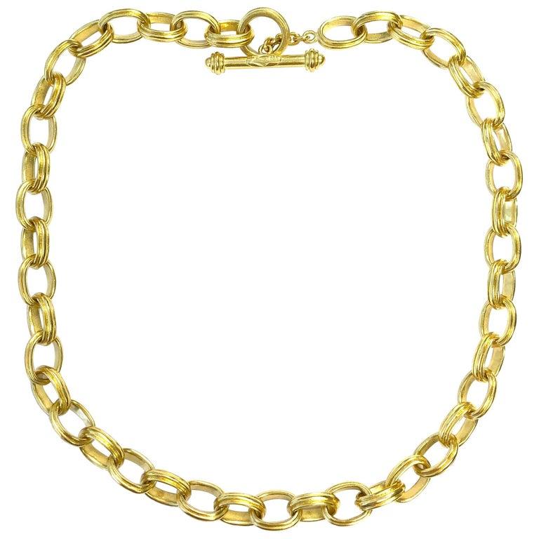 Elizabeth Locke Gold Heavy Chain Necklace