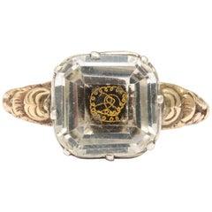 18th Century Stuart Crystal Ring, 15 Karat Gold, Great Britain