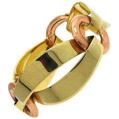 1940s Cartier Yellow and Rose Gold Bracelet