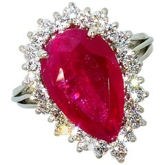 Natural Fine Ruby and Diamond