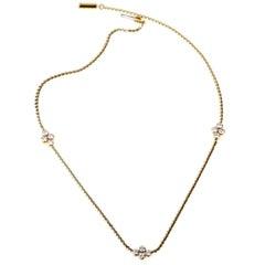 Van Cleef & Arpels Diamond Choker Gold Necklace