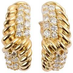 Hammerman Brothers Diamond Hoop Earrings