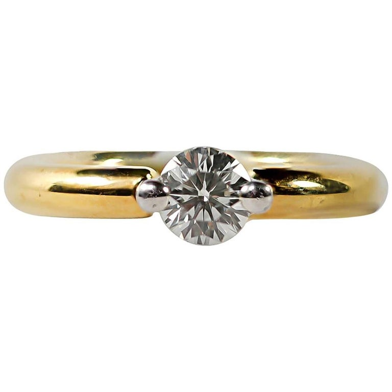 Whitney Boin Diamond Solitaire Engagement Ring