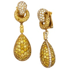 Intense Yellow Diamond Day and Night Earrings by Cartier