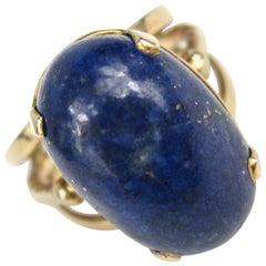 Vintage Mid-century 14K Gold Lapis Lazuli Ring