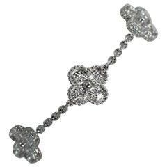 Van Cleef & Arpels Vintage Diamond Alhambra Five Motif Bracelet