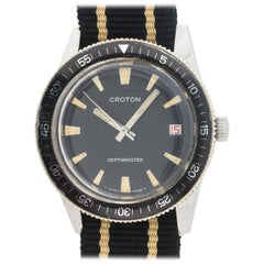 Croton Stainless Steel Diver's self winding Wristwatch, circa 1960s