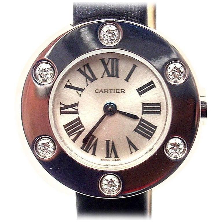 Cartier Ladies White Gold Diamond Love Quartz Wristwatch Ref WE800231