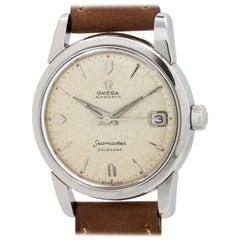 Omega Stainless Steel Seamaster Calendar automatic wristwatch, circa 1956