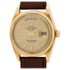 Rolex Yellow Gold Day Date Self Winding Wristwatch Ref 1803, circa 1971