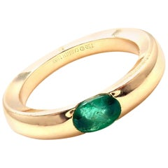 Cartier Emerald Yellow Gold Stacking Band Ring