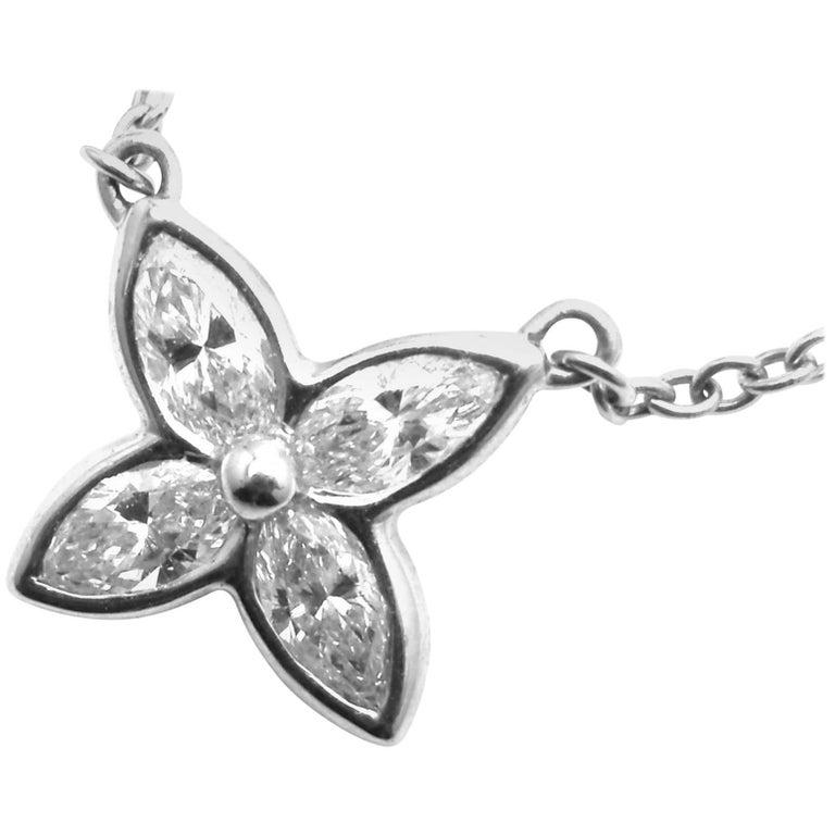 Tiffany & Co. Diamond Victoria Platinum Pendant Necklace