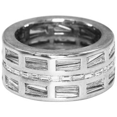 Diamond and White Gold Band Ring