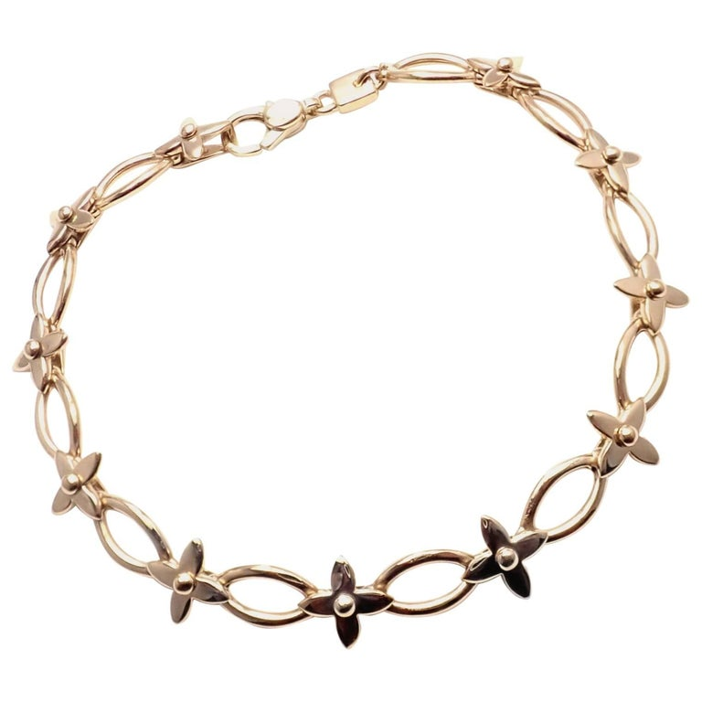5c06388001a5 Louis Vuitton Idylle Blossom Yellow Gold Link Bracelet For Sale at ...