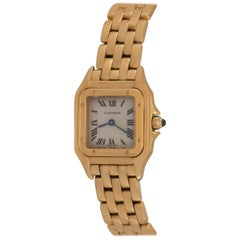 Cartier Ladies Yellow Gold Panther Quartz Wristwatch Ref W25022B9