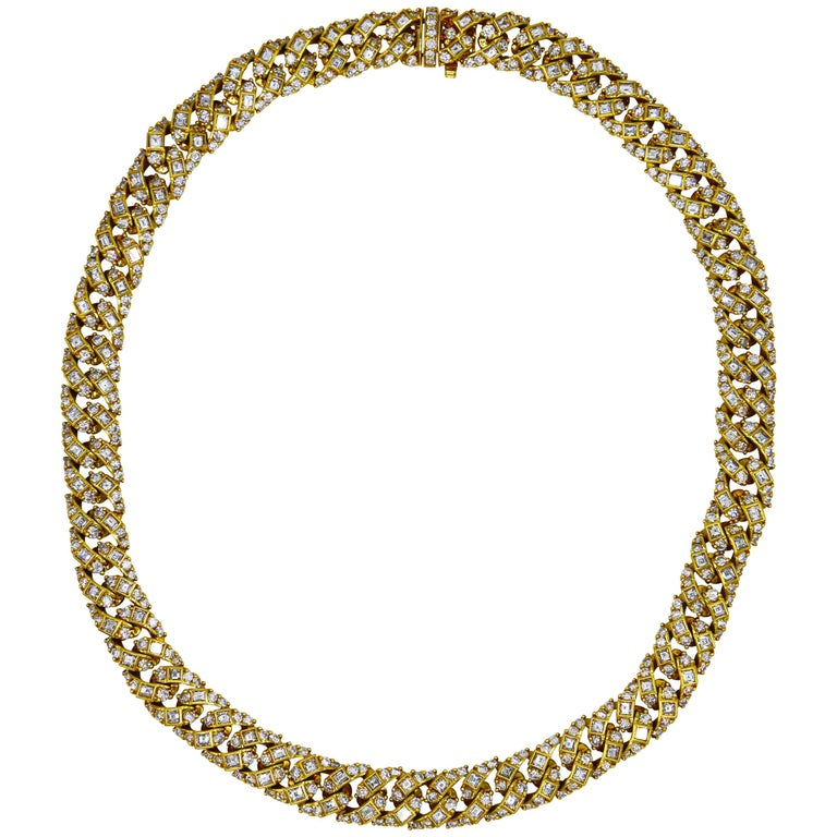 1960s Diamond and Gold Necklace