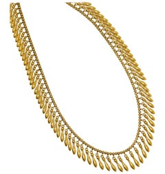 19th Century Gold Fringe Necklace