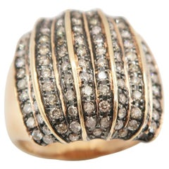Boon Champagne Brown Diamond Pink Rose Gold Ring