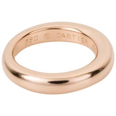 Cartier 18 Karat Rose Gold Band Ring