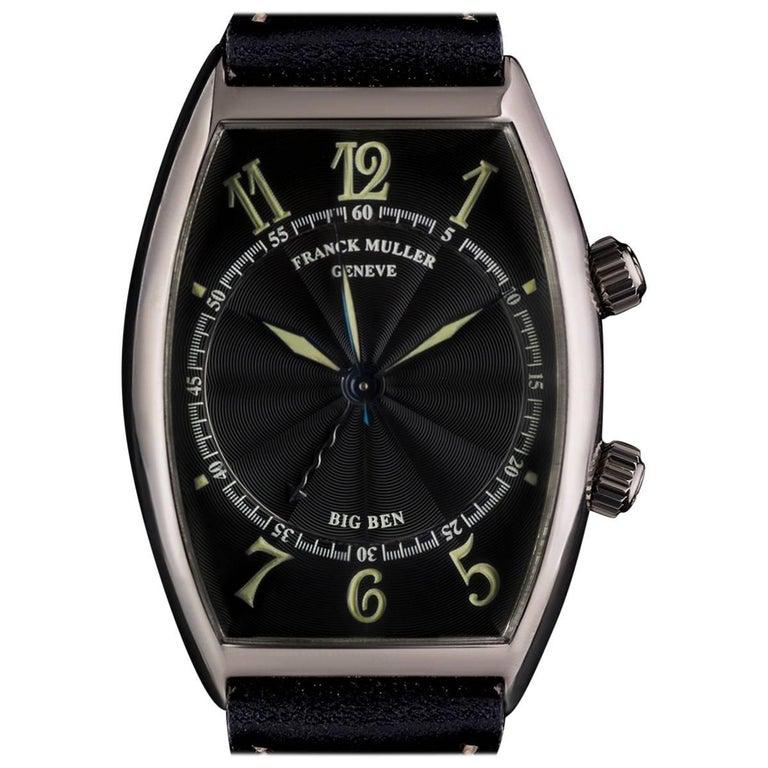 Franck Muller White Gold Black Dial Big Ben Alarm 5850 AL Manual Wind Watch
