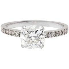 1.82 Carat Tiffany & Co. Novo Platinum Diamond Engagement Solitaire Ring