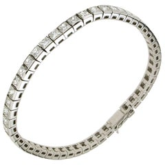 12.75 Carat White Gold Diamonds Tennis Bracelet