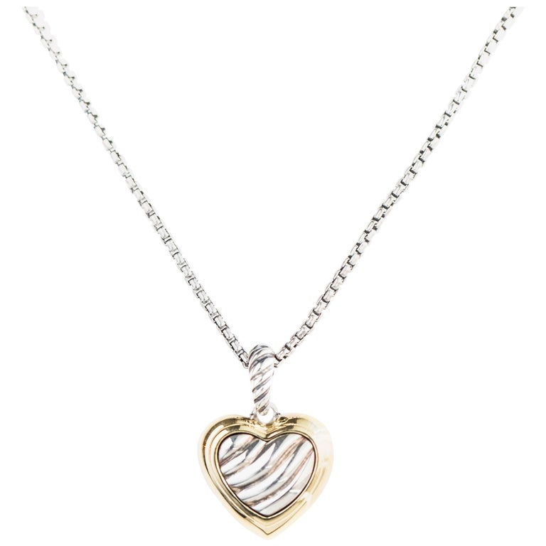 David Yurman Cable Heart Pendant Necklace