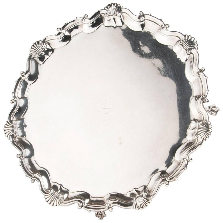 Fine and Large Sterling Silver Salver '925‰', Martin Hall & Co. Ltd