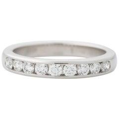 Tiffany & Co. 0.33 Carat Diamond Platinum Halfway Eternity Band Ring
