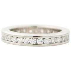 1.20 Carat Diamond and Platinum Eternity Band Ring