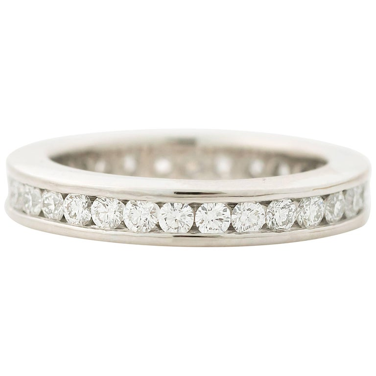 1.20 Carat Diamond Platinum Eternity Band Ring