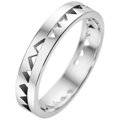Akillis Capture Me Band Ring 18 Karat White Gold