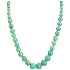 Julius Cohen Jade Bead Necklace