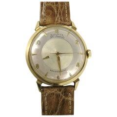 Bulova Yellow Gold Mystery Self Winding Wristwatch, 1958