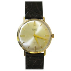 Gruen Yellow Gold Precision Automatic Wristwatch, 1960s