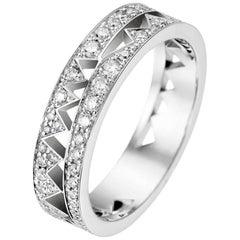 Akillis Capture Me Band Ring 18 Karat White Gold Full Set with White Diamonds