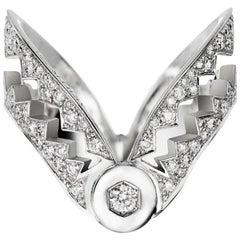 Akillis Capture Me Ring 18 Karat White Gold White Diamonds